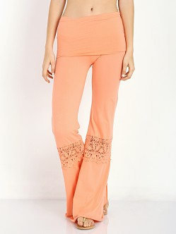 Nightcap Crochet Beach Pant Coral