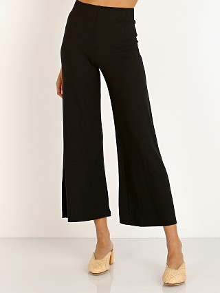 Complete the look: Stillwater The Rib Wide Leg Pant Black