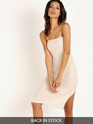 Model in sand Stillwater The Heart Throb Rib Tank Dress