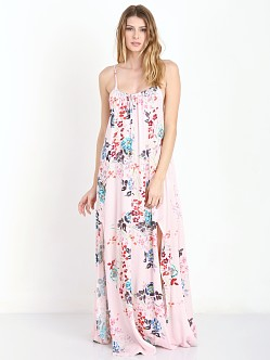 Some Days Lovin Golden Fields Floral Maxi Dress