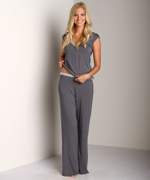 Calvin Klein Essentials with Satin Trim Pant Grey