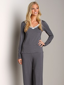 Calvin Klein Essentials with Satin Trim Long Sleeve PJ Top