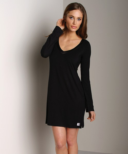 Calvin Klein Essentials with Satin Trim Night Dress Black