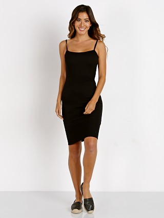 LNA Clothing Cher Rib Tank Dress Black