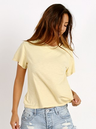 LNA Clothing Double Neck Band Tee Buttercream Potassium