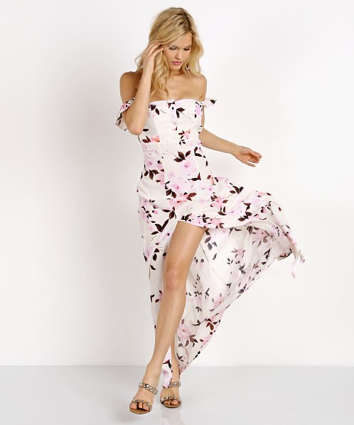77f8d4fc9 Flynn Skye Bardot Maxi Dress Scattered Roses SP17DL109 - Free Shipping at  Largo Drive