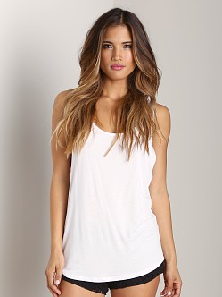 Tylie Malibu Jersey Low Side Tank White