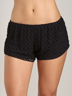 Tylie Malibu Crochet Shorts Black