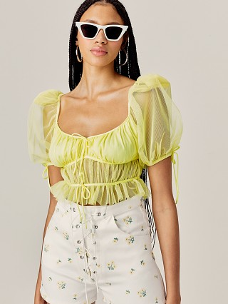 For Love & Lemons Sunshine Crop Yellow