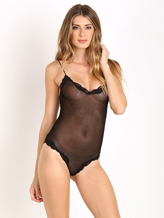 Only Hearts Tulle With Lace Bodysuit Black