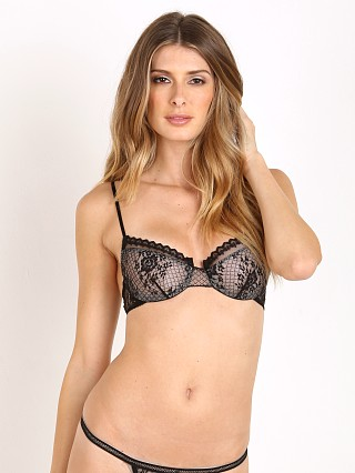 Only Hearts Lattice Lace Underwire Bra Black/Nude
