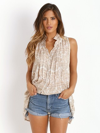 Complete the look: Novella Royale Misty Dreams Button Down Tank White Chantilly