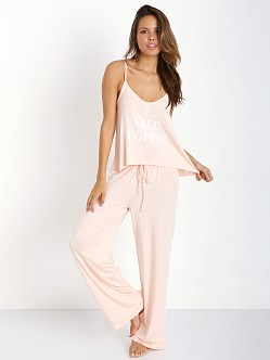 WILDFOX Cami Pant Set Need Coffee Blush