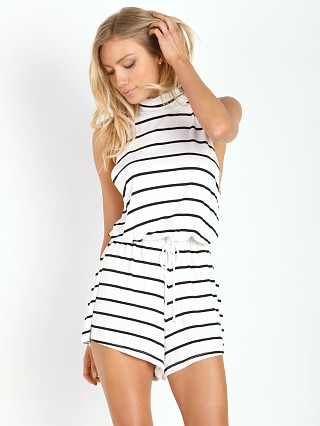 The Fifth Label Jupiter Sunshine Playsuit White & Black Stripe