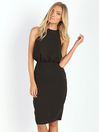 Model in black The Fifth Label Satisfaction Dress