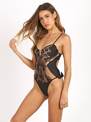 For Love & Lemons Corsica Lace One Piece Black Lace