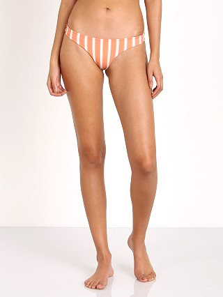 Tori Praver Anastasia Bikini Bottom Sunday Stripe Coral Dust