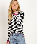 Splendid X Margherita Missoni Dolce Vita Rib Turtleneck Stripe, view 3