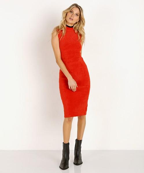 Splendid X Margherita Missoni Piuma Sweater Dress Rosso