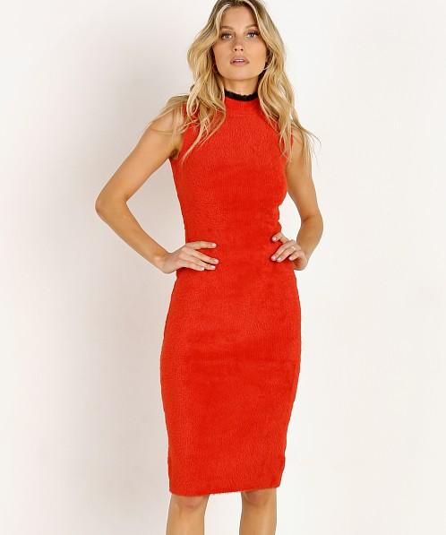 Splendid X Missoni: Splendid X Margherita Missoni Pluma Sweater Dress Rosso