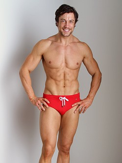 2xist Rio No-Show Swim Brief Salsa Red