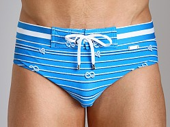 2xist Nautical Knot Rio Swim Brief Shock Blue