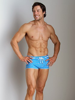 2xist Nautical Knot Cabo Swim Trunk Shock Blue