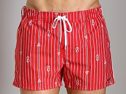 2xist Nautical Knot Ibiza Swim Shorts Salsa Red