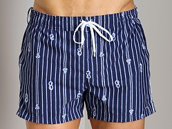2xist Nautical Knot Ibiza Swim Shorts Estate Blue