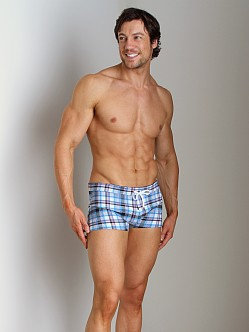 2xist Summer Plaid Cabo Swim Trunk White