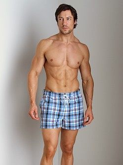 2xist Summer Plaid Ibiza Swim Shorts White