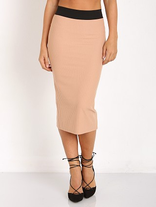 Noe Undergarments Rae Open Zip Back Skirt Taupe