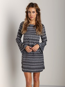Flynn Skye Mini Bell Sleeve Dress Black Ziggy