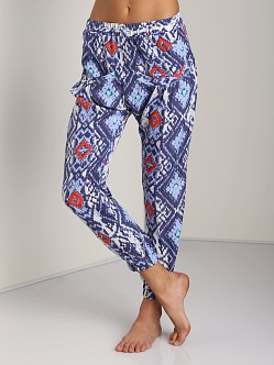 Flynn Skye Perfect Pant Blue Ikat