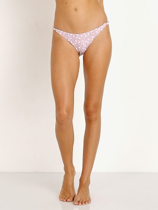 Model in cashmere rose Eberjey Petite Fleur Perry Bikini Bottom