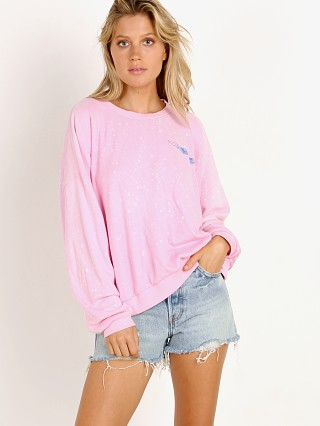 LNA Clothing Aviator Sweatshirt Neon Pink