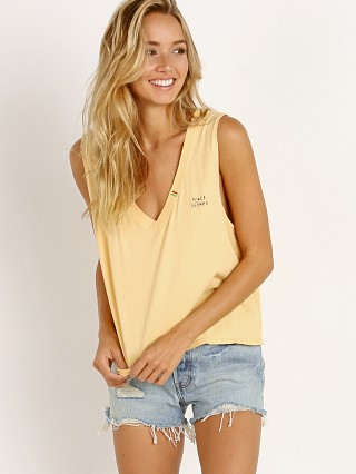 Spiritual Gangster Peace Seeker Deep V Tank Yellow