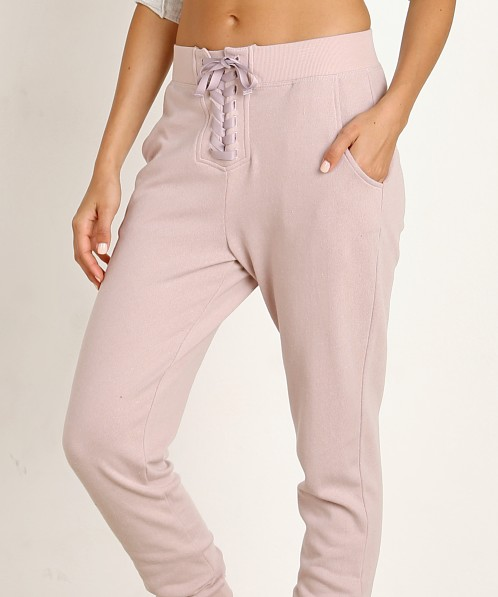 Spiritual Gangster Peace Mode Pant Pink Smoke