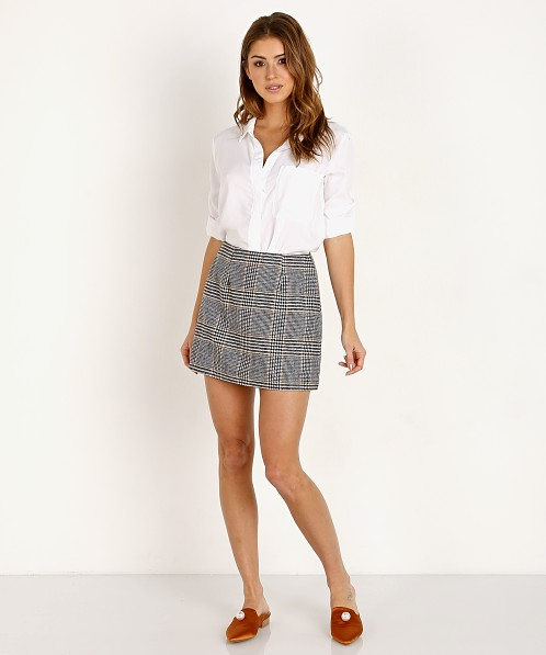 ASTR the Label Raye Skirt Black Plaid