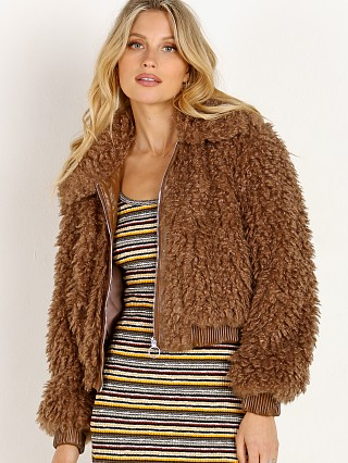 Model in mocha ASTR the Label Phoenix Jacket