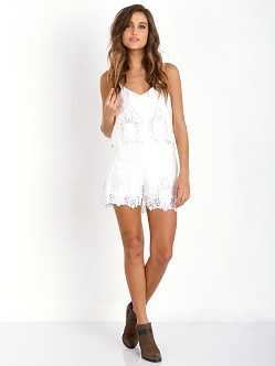 The Jetset Diaries Without Suspense Romper White