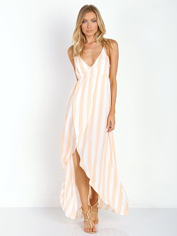WILDFOX Atlantis Wrap Dress Hotel Stripe