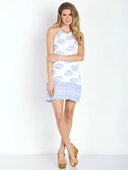 Faithfull the Brand New Age Dress Sunfaded Print Blue