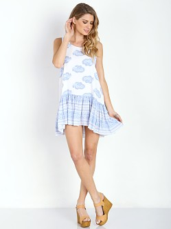 Faithfull the Brand Elixir Dress Sunfaded Print Blue
