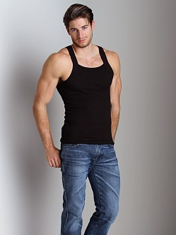 2xist 2-Pack Square Cut Tank Tops Black