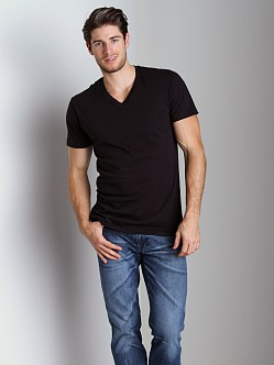 2xist 3-Pack Jersey V-Neck T-Shirts Black