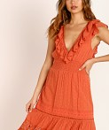 Spell Chain Frill Maxi Dress Copper, view 4