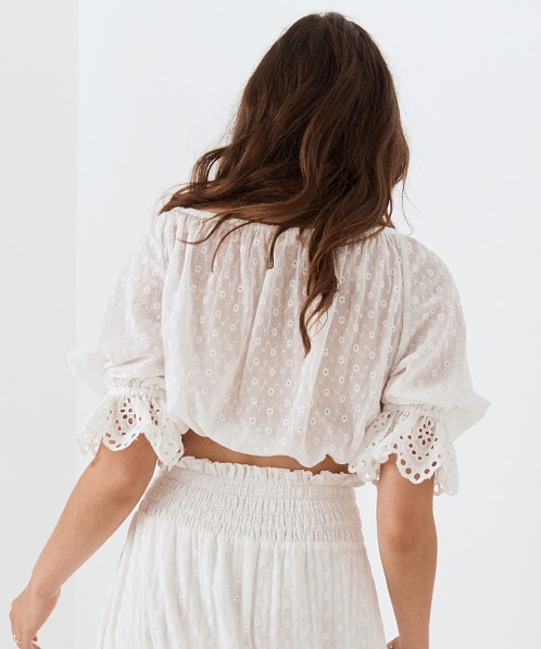 Spell & The Gypsy Daisy Chain Tie Top White