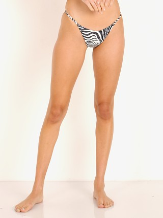 Model in zebra Indah Marlin Med Coverage Bikini Bottom
