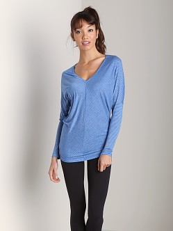 Beyond Yoga V-Neck Bias Top Brilliant Blue Stripe